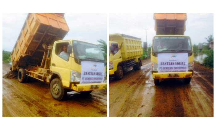 BRI Bantu Perbaikan Jalan di Kalimantan Selatan